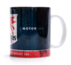 Retro Mobile Gas Oil Blue Mug
