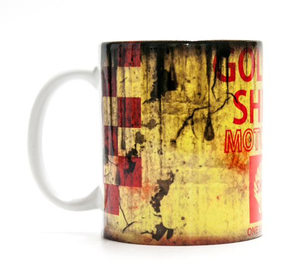 Retro Golden Shell Motor Oil Mug