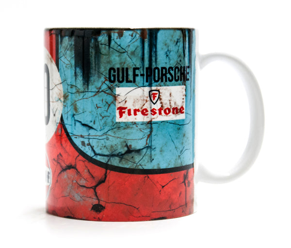 Retro Gulf Oil Racing Mug