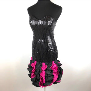 Perfect Vintage 80's Sequins Party Dress SZ Small