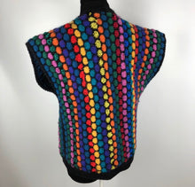 Incredible vintage 70's Rainbow 🌈 Sweater SZ Medium