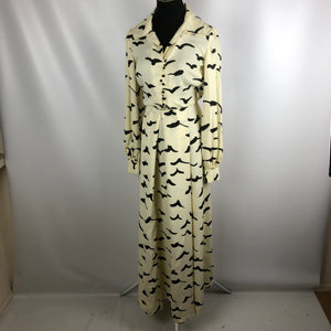 WOW! Perfect vintage 70's birds flying maxi dress SZ SM