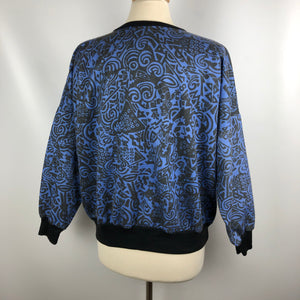 Amazing Vintage Abstract Print Sweatshirt SZ Medium
