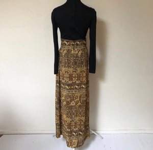 Gorgeous Vintage 70's boat neck Maxi Dress SZ S/M