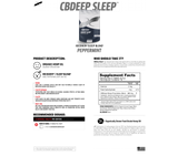 Xendurance CBDeep Sleep - 60 Peppermint Flavour Chewable