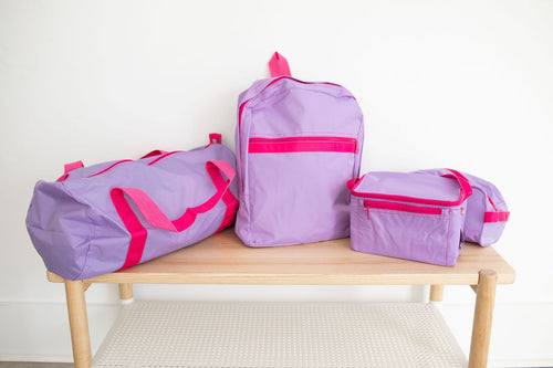 Lilac and Hot Pink Nylon - The Sleepover Set