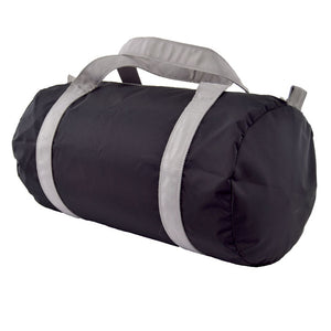 Black and Grey Nylon Medium Duffel Bag