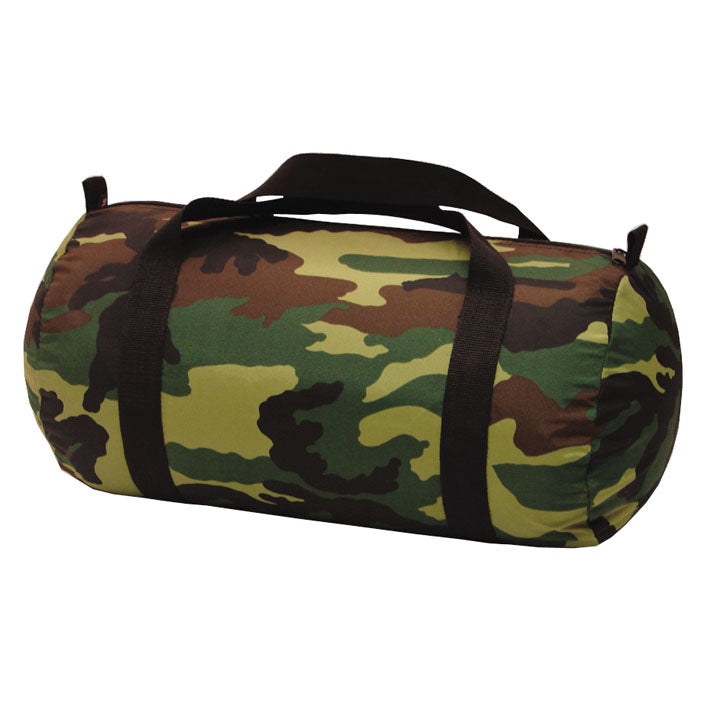 Camo Nylon Medium Duffel Bag