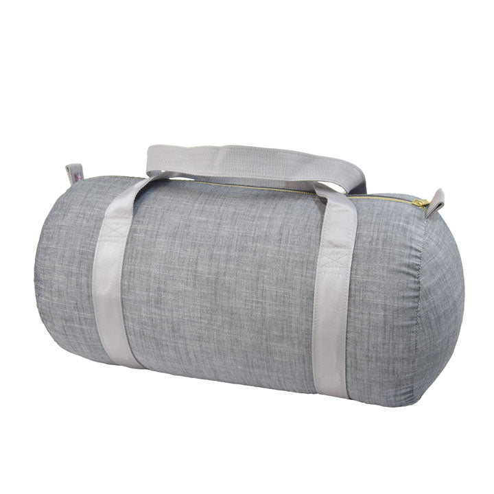 Grey Chambray Medium Duffel Bag
