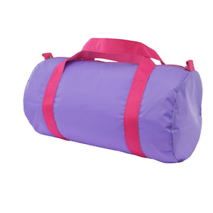 Lilac and Hot Pink Nylon Medium Duffel Bag