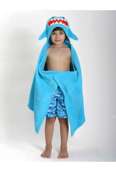 Sherman the Shark Hooded Towel