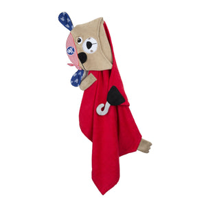 Pedro the Pirate Puppy Hooded Towel