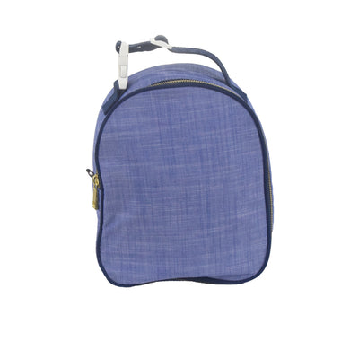 Navy Chambray and Brass Gumdrop Lunch Box