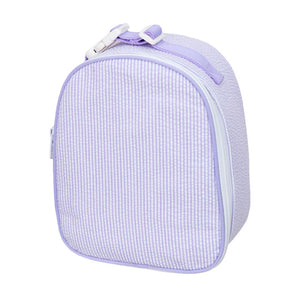 Lilac Seersucker Gumdrop Lunch Box