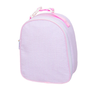 Pink Seersucker Gumdrop Lunch Box
