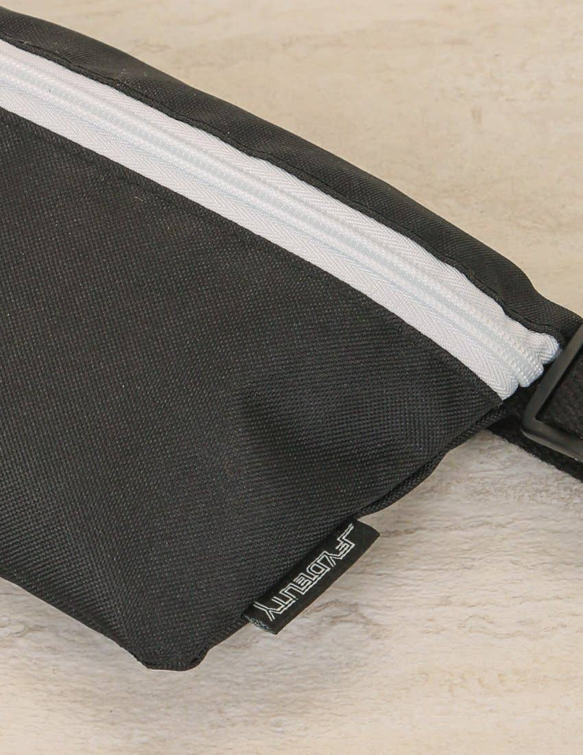 Black And White Game Day Ultra-Slim Fanny Pack