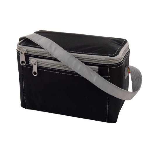 Black and Grey Nylon Lunch Box