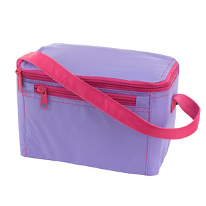 Lilac and Hot Pink Nylon Lunch Box