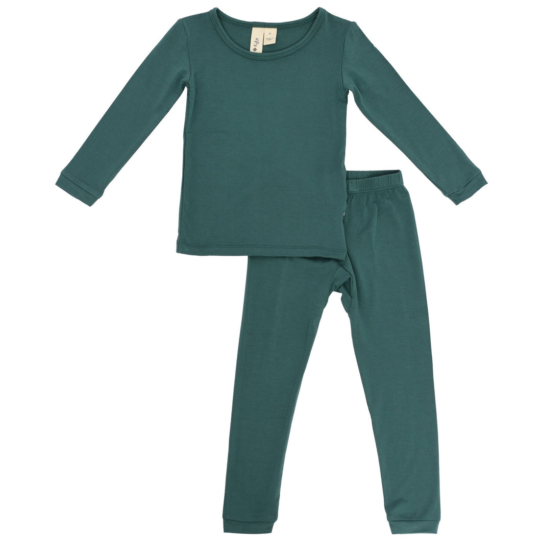 Kyte Toddler Pajama Set in Emerald