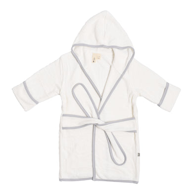 Personalized Kyte Baby Kids' Bamboo Terry Bathrobe - Cloud with Storm Trim