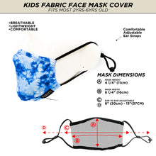 Fydelity Face Mask - Kids - Tye Dye Blue - Age 2-6