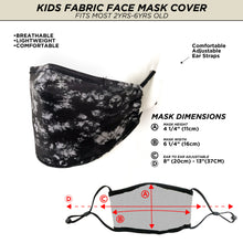 Fydelity Face Mask  - Kids - Black Tie Dye - Age 2-6