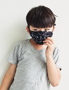 Fydelity Face Mask  - Kids - Black Paint Splatter - Age 2-6