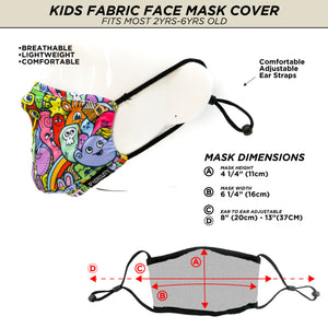 Fydelity Face Mask - Kids - Cup of Bows - Age 2-6