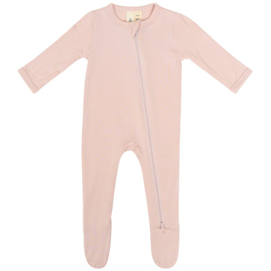 Kyte Zippered Footie in Blush