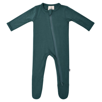 Kyte Zippered Footie in Emerald