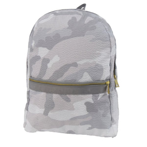 Snow Camo Seersucker Medium Backpack