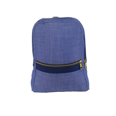 Navy Chambray and Brass Toddler Backpack