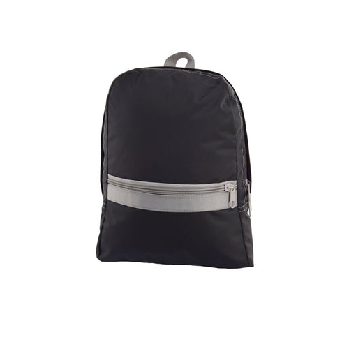 Black and Grey Nylon Toddler Backpack
