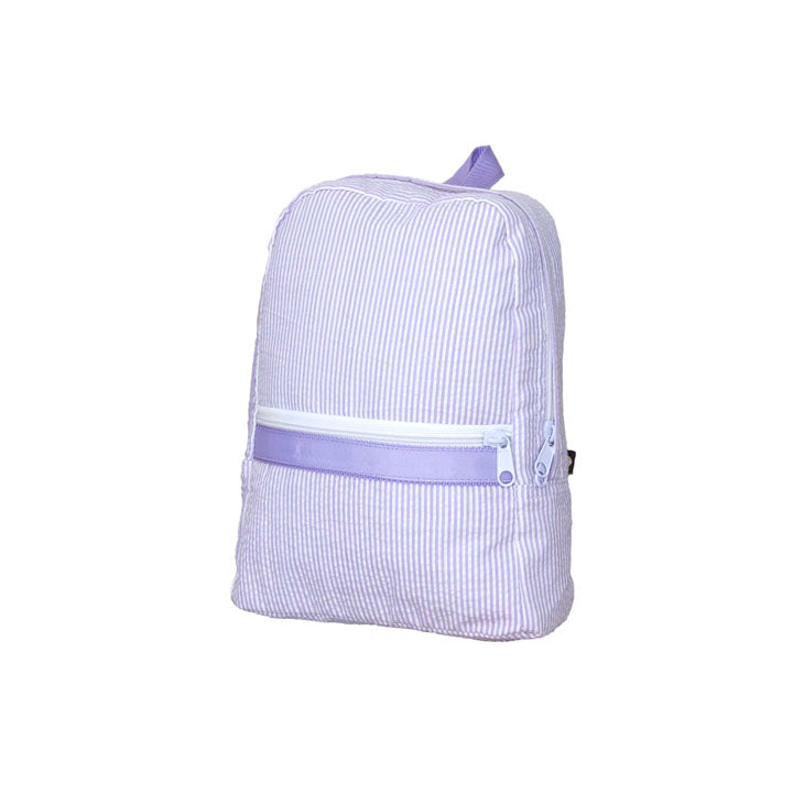 Lilac Seersucker Toddler Backpack