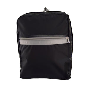 Black and Grey Nylon Medium Backpack