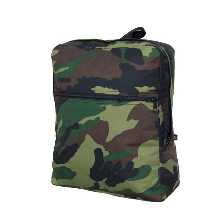 Camo Nylon Medium Backpack