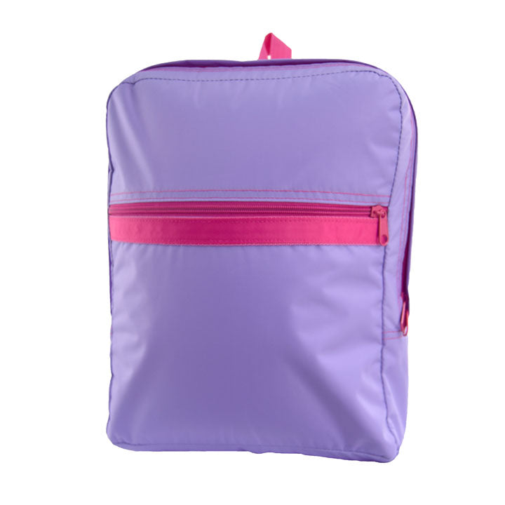 Lilac and Hot Pink Nylon Medium Backpack