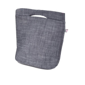 Grey Chambray and Brass Lunch Tote