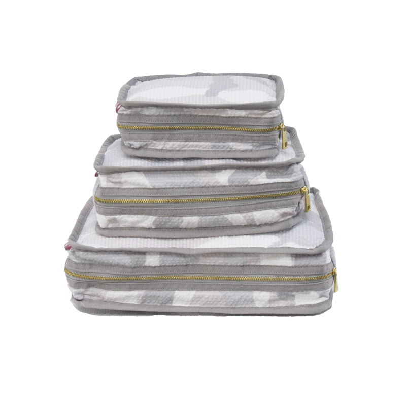 Snow Camo Set of 3 Packing Cube Stacking Set