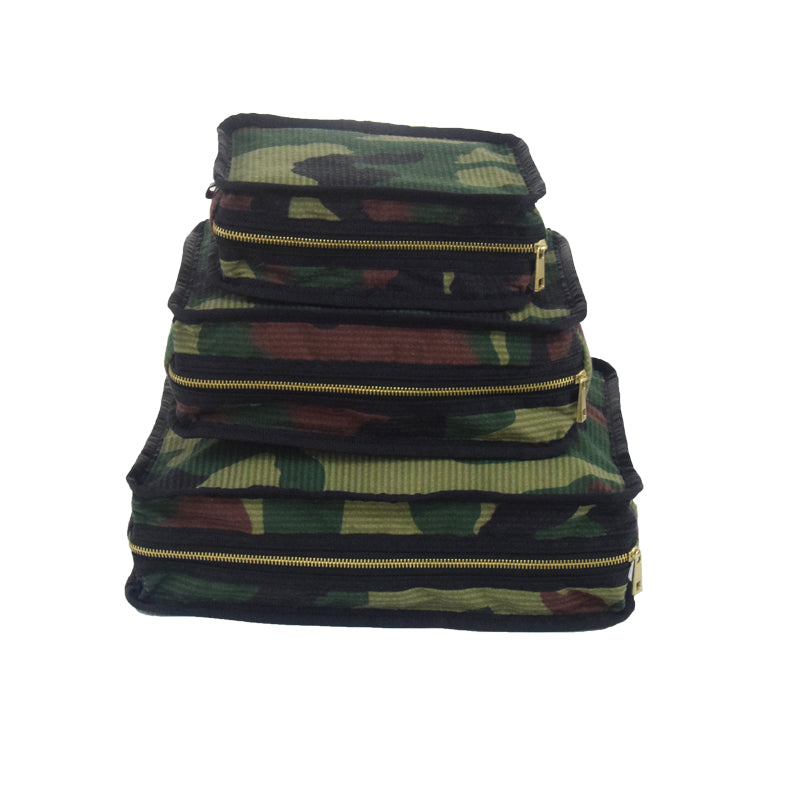Woodland Camo Set of 3 Packing Cube Stacking Set