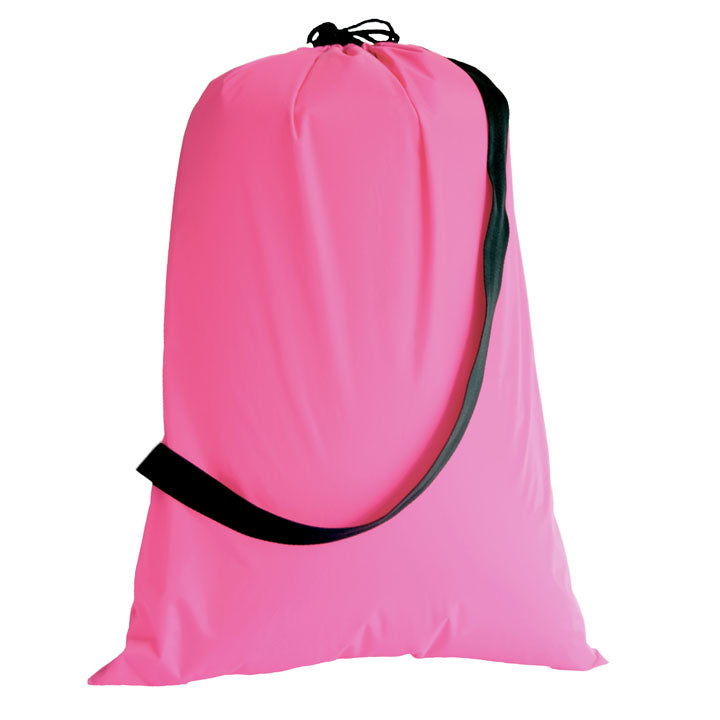 Hot Pink and Black Laundry Bag - Catch All