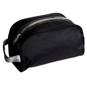Black and Grey Nylon Traveller Toiletry Bag