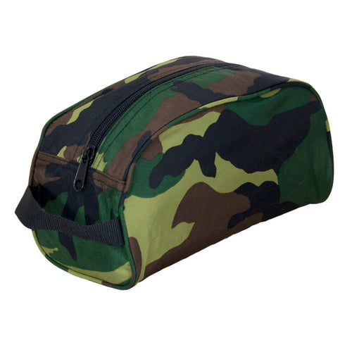 Camo Nylon Traveler Toiletry Bag