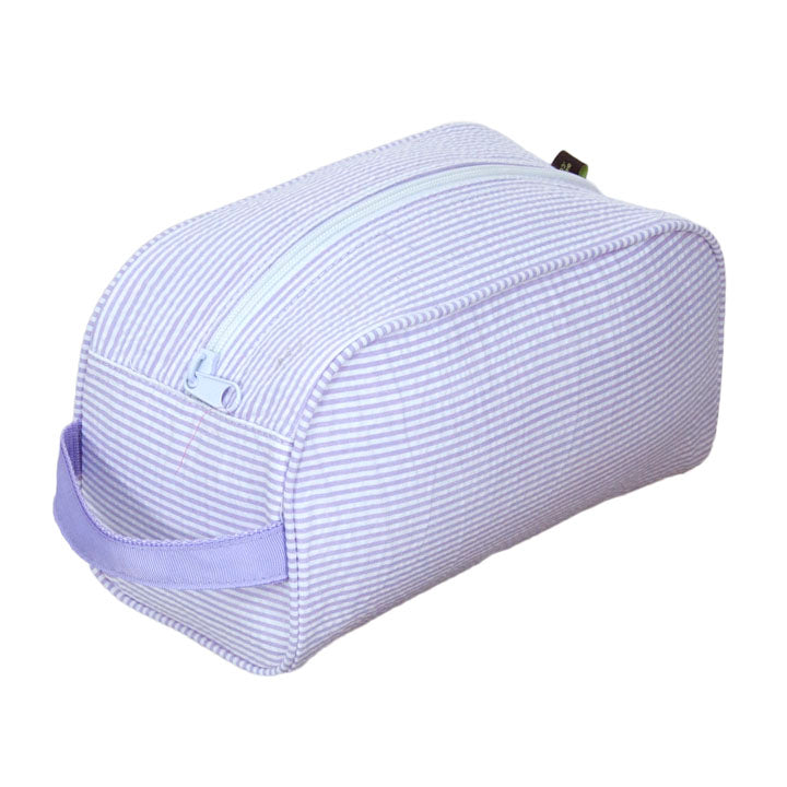Lilac Seersucker Traveler Toiletry Bag