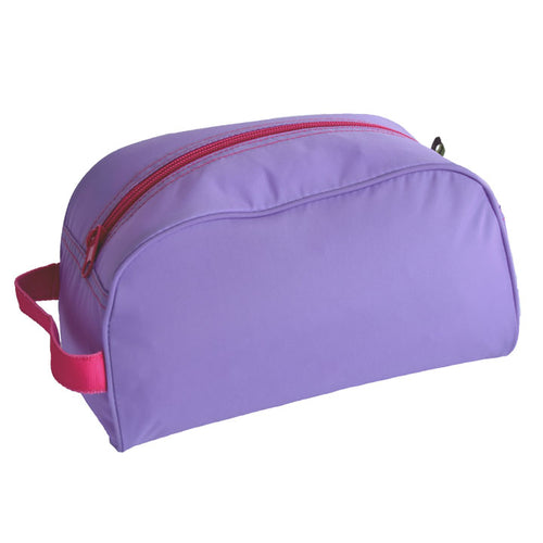 Lilac and Hot Pink Nylon Traveler Toiletry Bag
