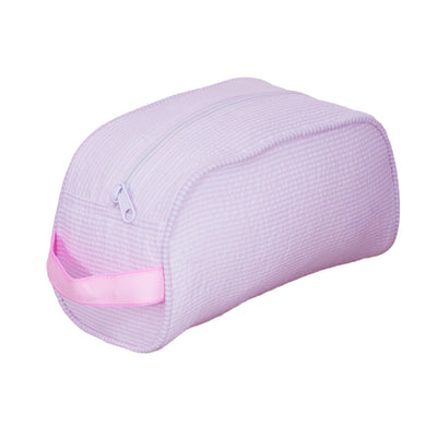 Pink Seersucker Traveler Toiletry Bag