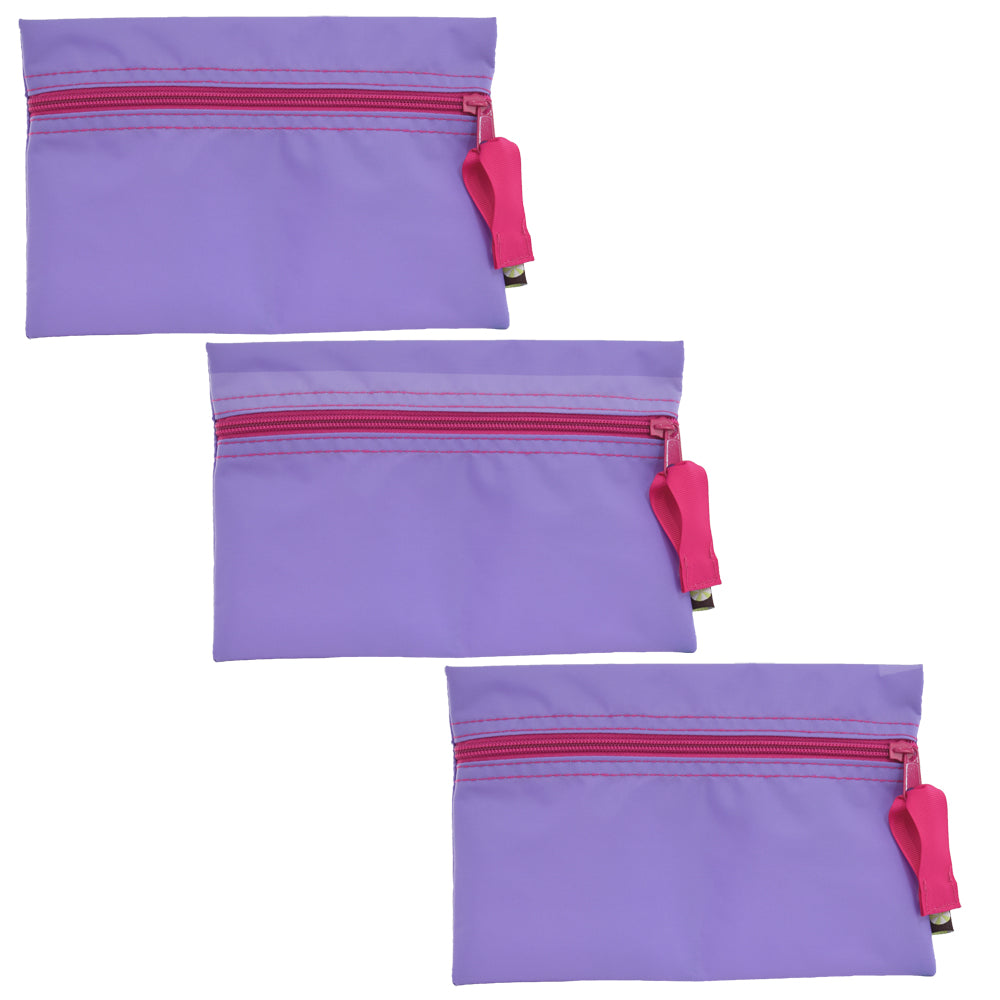 Lilac and Hot Pink Nylon Cosmo Bag - Single