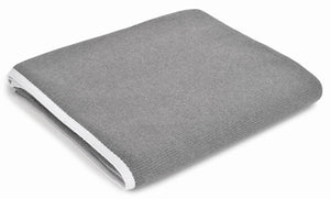 Ari Grey with White Trim Cotton Throw