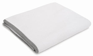 Ari White with Grey Trim Cotton Throw
