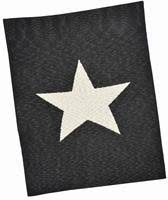 Black and Cream Single Star Blanket